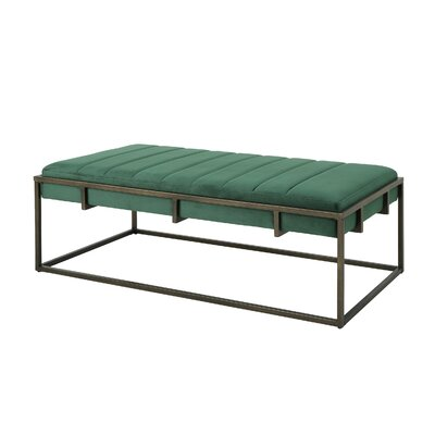 Callison Metal Bench Color: Emerald