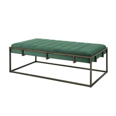 Callison Metal Bench Color: Emerald