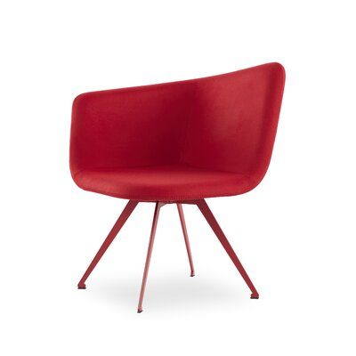 Ehmann Swivel Guest Chair Finish: Red, Seat Color: Red