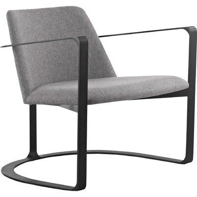 Vesey Armchair Upholstery: Neutral Gray/Black Oak