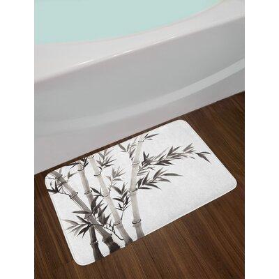 Bamboo Leaves Meaning Wisdom Growth Renewal Unleash Your Power Artprint Non-Slip Plush Bath Rug