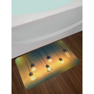 Vibrant Equipment Original Concept for Artwork Design Non-Slip Plush Bath Rug