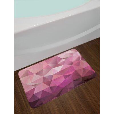 Abstract Entertainment Geometric Shapes Monochromic Illustration Non-Slip Plush Bath Rug