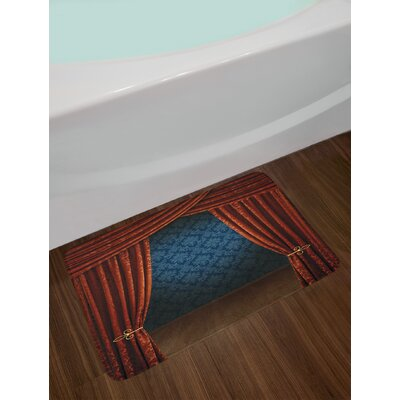 Victorian Grand Opening Showroom with Pattern Wall Stage Theatrical Non-Slip Plush Bath Rug