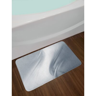 Soft Abstract Digital Print Design in Purity Inspired Concept Artistic Urban Non-Slip Plush Bath Rug