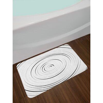 Spires Rotary Spiral Ring Shaped Turning Simple Wheel Forms Eddy Illustration Non-Slip Plush Bath Rug