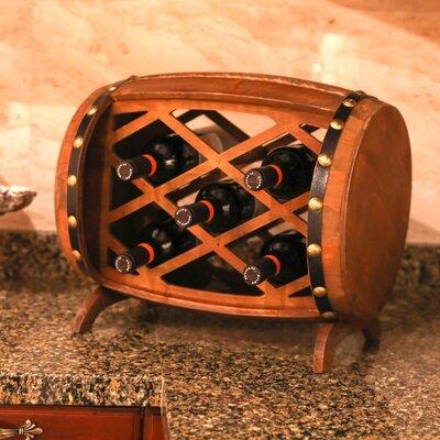 Gullo Rustic Wooden 7 Bottle Floor Wine Rack