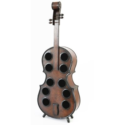 Gumbs Wooden Violin 10 Bottle Floor Wine Rack
