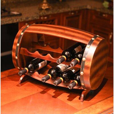 Gunnar Wooden Barrel 10 Bottle Floor Wine Rack