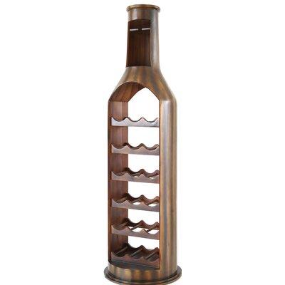 Gumm Wooden 18 Bottle Floor Wine Rack