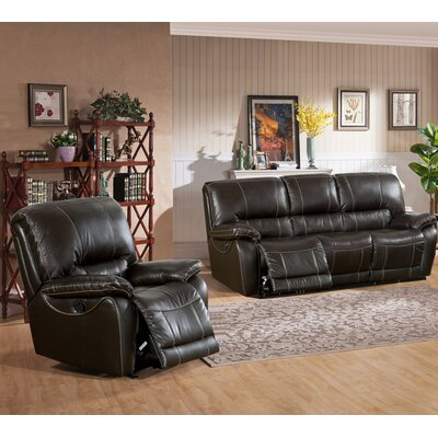 Walborn 2 Piece Leather Living Room Set