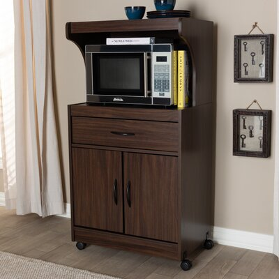 Hayley 1 Drawer Accent Cabinet Color: Dark Walnut