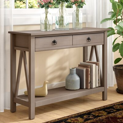 Soule Console Table Color: Rustic gray