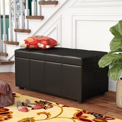 Stone Castle Storage Bench Color: Black