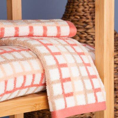 Ritenour Check 3 Piece 100% Cotton Towel Set Color: Coral