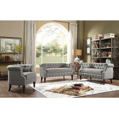 Celestia 3 Piece Living Room Set Upholstery: Gray