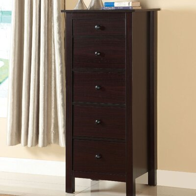 Du Bois 5 Drawer Chest Color: Espresso