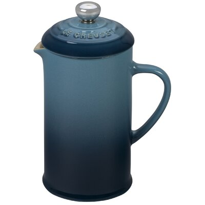 1.5-Cup Stoneware Petite French Press Coffee Maker Color: Marine