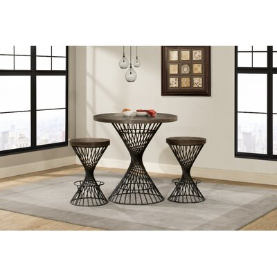 Latham 3 Piece Counter Height Dining Set Color: Walnut