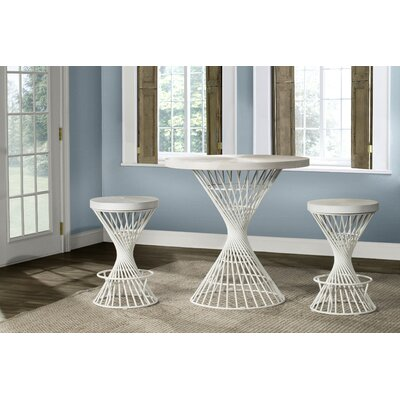 Latham 3 Piece Counter Height Dining Set Color: White