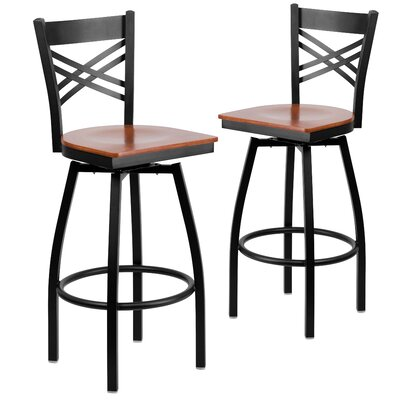 """Chafin 30"""" Swivel Bar Stool Color: Cherry"""