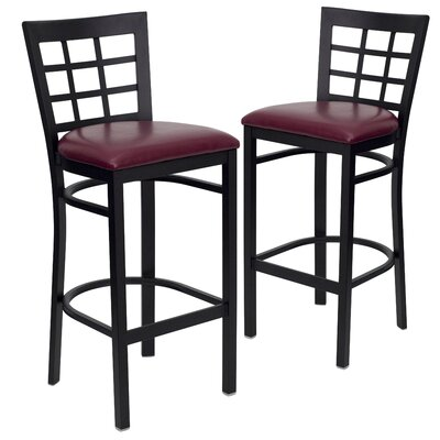 "Chafin 31"" Bar Stool Upholstery: Burgundy"