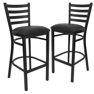 Chafin 31 Bar Stool Upholstery: Black