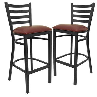 Chafin 31 Bar Stool Upholstery: Burgundy