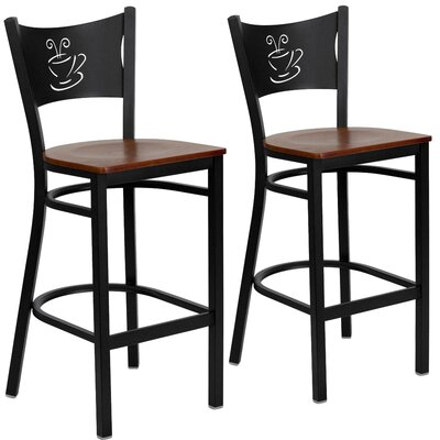 """Chafin 29"""" Bar Stool Color: Cherry"""