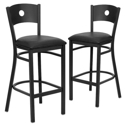 "Chafin 31"" Bar Stool Upholstery: Black"