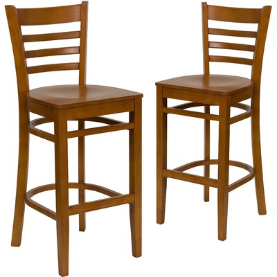 "Loughran 30"" Bar Stool Color: Cherry"