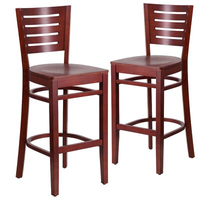 "Lauren 29"" Bar Stool Color: Mahogany"