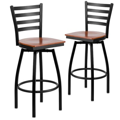 """Chafin 31"""" Swivel Bar Stool Color: Cherry"""