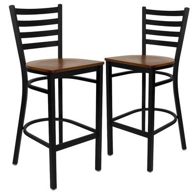 "Chafin 29"" Bar Stool Color: Cherry"