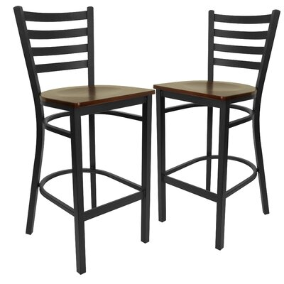 "Chafin 29"" Bar Stool Color: Mahogany"