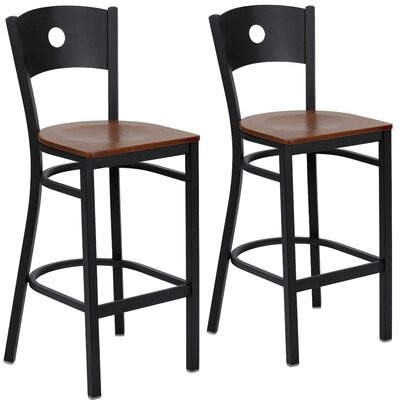 "Chafin 29"" Swivel Bar Stool Color: Cherry"