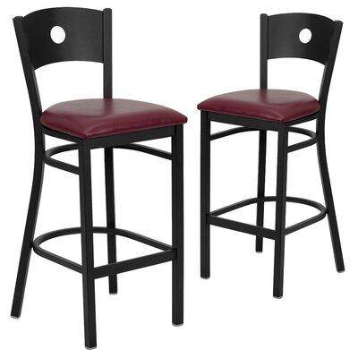 "Chafin 31"" Bar Stool Upholstery: Burgundy"