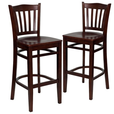 "Loughran 30"" Bar Stool Color: Mahogany"