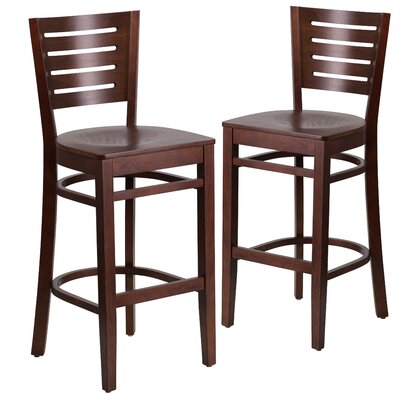 "Lauren 29"" Bar Stool Color: Walnut"