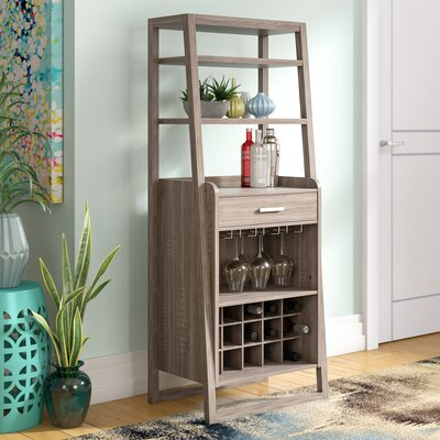 Han Bar with Wine Storage Color: Dark Taupe