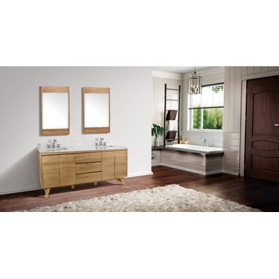 "Fiona 73"" Double Bathroom Vanity Base Finish: Natural Teak"