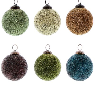 Crystalized Glass Ball Ornament