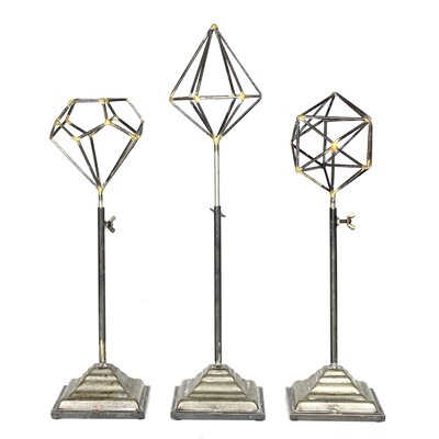 Brielle Telescoping Geo's on Stand 3 Piece Coat Rack Set