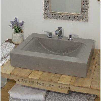 "Bay Wave Rectangular Vessel Bathroom Sink Size: 7"" H x 25"" W x 22"" D"