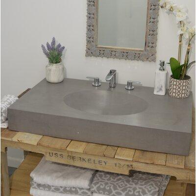 "Silo Rectangular Vessel Bathroom Sink Size: 6"" H x 62"" W x 22"" D"