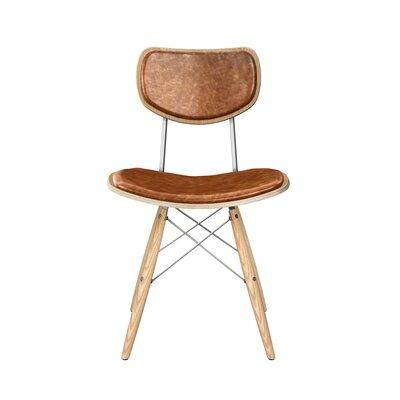 Dodgen Upholstered Dining Chair Upholstery: Burnt Orange, Leg Color: Chrome, Frame Color: Natural