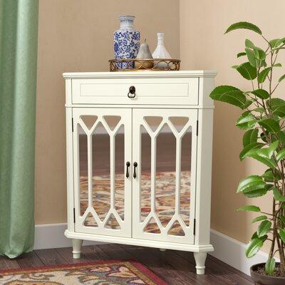 Hannah Wooden Corner Accent Cabinet Color: Antique White