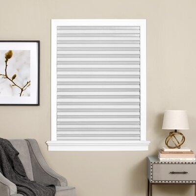 "Aditya Cordless 1-2-3 Vinyl Room Darkening Pleated Shade Color: White, Blind Size: 36"" W x 75"" L"