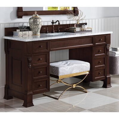 "Brookfield 60"" Single Bathroom Vanity Base Base Finish: Burnished Mahogany"
