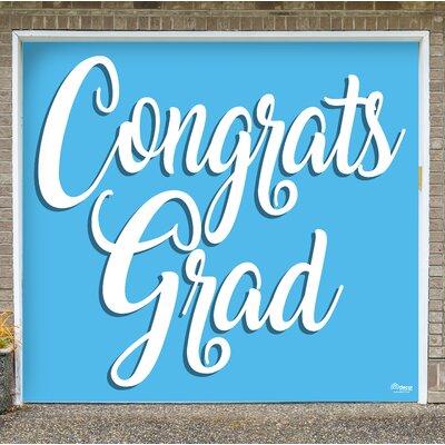 Graduation Garage Door Mural Color: Light Blue
